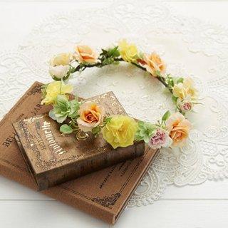 (プリザ)ブーケデコの花冠 S イエロー系