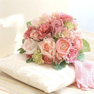 (プリザ)甘いピンクのラウンドブーケ