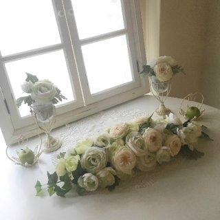 (造花)メインテーブル花(器付き)