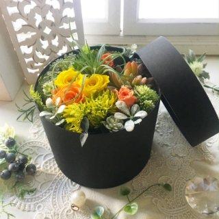 プリザーブドフラワー&造花多肉BOXアレンジ L