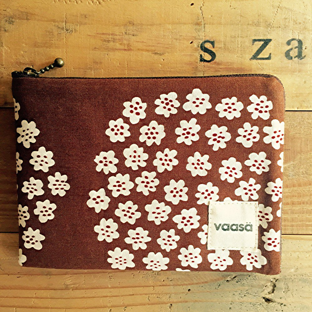 vintage fabric pouch