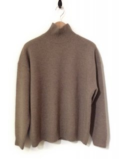 AURALEE BABY CASHMERE KNIT TURTLE NECK P/O(NATURAL BROWN)