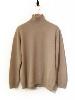 AURALEE BABY CASHMERE KNIT TURTLE NECK P/O(NATURAL BEIGE)