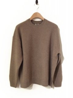 AURALEE BABY CASHMERE KNIT P/O(NATURAL BROWN)