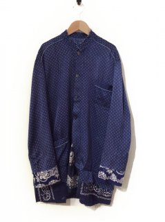 OLD PARK PULLOVER TAIL SHIRT(BLUE)