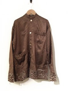 OLD PARK PULLOVER TAIL SHIRT(BROWN)