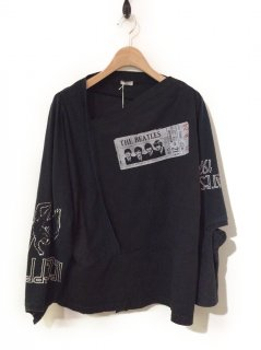OLDPARK PATCHWORK L/S TEE 2(ROCK)
