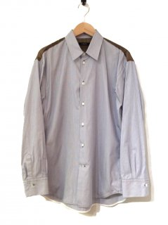 <img class='new_mark_img1' src='//img.shop-pro.jp/img/new/icons20.gif' style='border:none;display:inline;margin:0px;padding:0px;width:auto;' />CINOH CHECK YOKE PIN STRIPE SHIRT