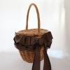 編むリボンで飾るかごバッグ(認定講座・キット・材料)