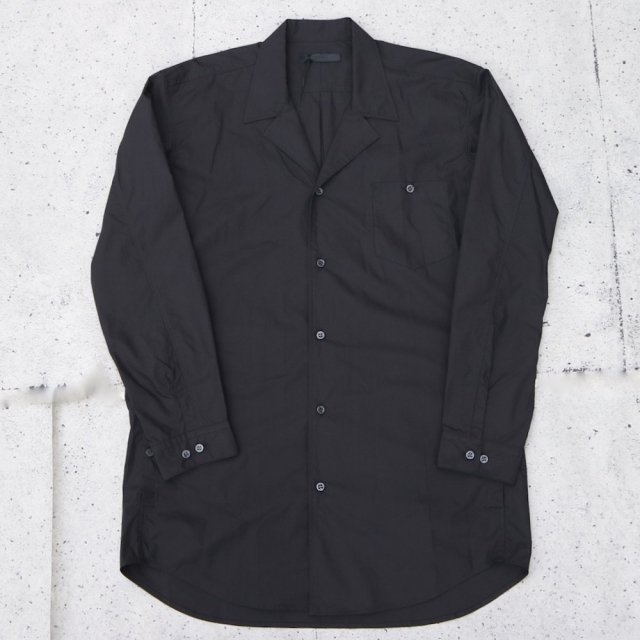 <img class='new_mark_img1' src='//img.shop-pro.jp/img/new/icons11.gif' style='border:none;display:inline;margin:0px;padding:0px;width:auto;' />juha ユハ TYPEWRITER OPEN COLLAR SHIRT BLACK