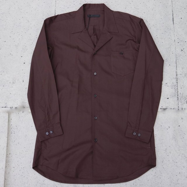 <img class='new_mark_img1' src='//img.shop-pro.jp/img/new/icons11.gif' style='border:none;display:inline;margin:0px;padding:0px;width:auto;' />juha ユハ BROAD OPEN COLLAR SHIRT BROWN
