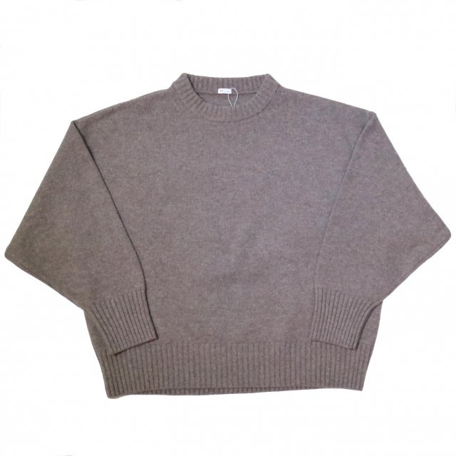 <img class='new_mark_img1' src='//img.shop-pro.jp/img/new/icons11.gif' style='border:none;display:inline;margin:0px;padding:0px;width:auto;' />LADIES MY マイ MERINO WOOL CREW NECK KNIT メリノウールクルーネックニット GRAY