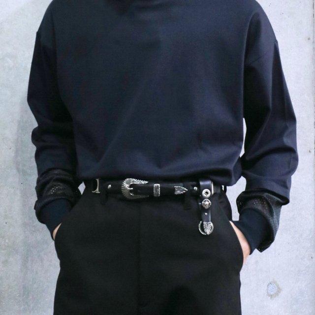 TOGA VIRILIS  Leather Nylon Belt With Key Ring