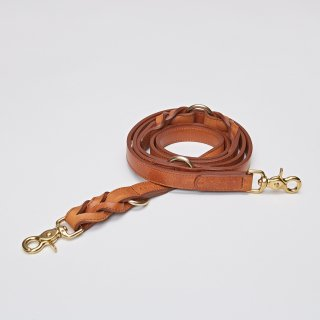 <img class='new_mark_img1' src='//img.shop-pro.jp/img/new/icons57.gif' style='border:none;display:inline;margin:0px;padding:0px;width:auto;' />DOG LEASH HYDE PARK BRAIDED LEATHER COGNAC/CLOUD7(ドッグリーシュ・ハイドパーク・ブライデッドレザー・コニャック/クラウド7)