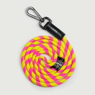 <img class='new_mark_img1' src='//img.shop-pro.jp/img/new/icons24.gif' style='border:none;display:inline;margin:0px;padding:0px;width:auto;' />PAV LOVES DOG PINK & YELLOW/ORIGINAL LANYARDS(パブラブスドッグ・ピンク&イエロー/オリジナル・ランヤード)