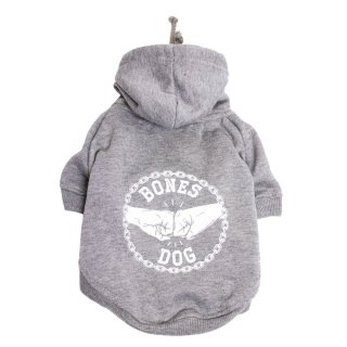 <img class='new_mark_img1' src='//img.shop-pro.jp/img/new/icons24.gif' style='border:none;display:inline;margin:0px;padding:0px;width:auto;' />BONES DOG HOODIE - GREY MARLE/PETHAUS(ボーンズ・ドッグ・フーディ・グレーマーレ/ペットハウス)