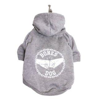 BONES DOG HOODIE - GREY MARLE / PETHAUS(ボーンズ・ドッグ・フーディ・グレーマーレ/ペットハウス)