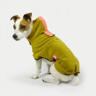 HOODIE DOG RAINCOAT - MUSTERD YELLOW / DOGSNUG (フーディ・レインコート - マスタードイエロー / ドッグスナッグ)