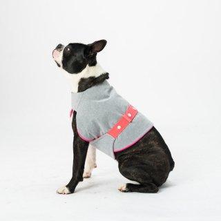 COOLING DOG COAT - LIGHT GREY / DOGSNUG (クーリング・ドッグ・コート - ライトグレー / ドッグスナッグ)