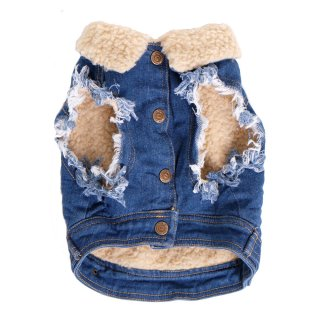 <img class='new_mark_img1' src='//img.shop-pro.jp/img/new/icons57.gif' style='border:none;display:inline;margin:0px;padding:0px;width:auto;' />SHERPA LINED DENIM DOG VEST/ PETHAUS(シェルパラインデニム・ドッグベスト / ペットハウス)