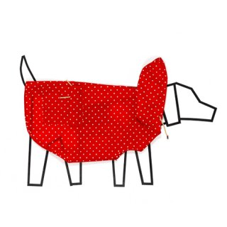<img class='new_mark_img1' src='//img.shop-pro.jp/img/new/icons5.gif' style='border:none;display:inline;margin:0px;padding:0px;width:auto;' />POLKA DOT ANORAK RAINCOAT - RED / WARE OF THE DOG(ポルカドット・アノラック・レインコート・ネイビー / ウェアオブザドッグ)
