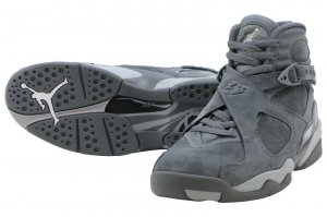 NIKE AIR JORDAN 8 RETRO - Cool Grey/Wolf Grey-Cool Grey