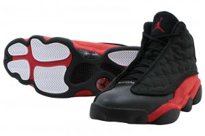 NIKE AIR JORDAN 13 RETRO - BLACK/TRUE RED