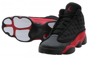 NIKE AIR JORDAN 13 RETRO BG - BLACK/TRUE RED