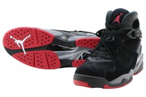 NIKE AIR JORDAN 8 RETRO - BLACK/GYM RED