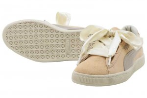PUMA BASKET HEART UP WNS - Natural Vachetta