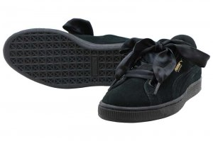 PUMA SUEDE HEART SATIN 2 WNS - BLACK
