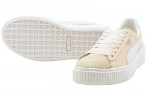 PUMA BASKET PLATFORM UP WNS - Natural Vachetta