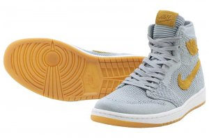 NIKE AIR JORDAN 1 RETRO HI FLYKNIT - WOLF GREY