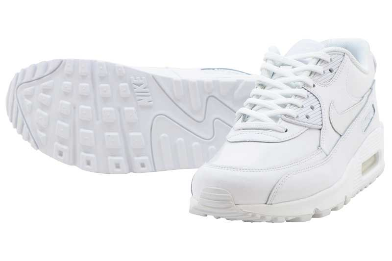 52d767c508 NIKE WMNS AIR MAX 90 LEA - WHITE 921304-101