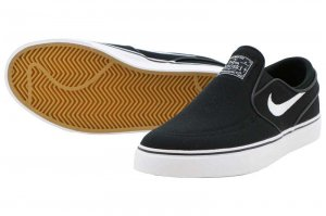 NIKE SB STEFAN JANOSKI CANVAS SLIP GS - BLACK/WHITE