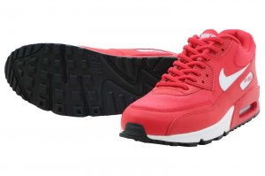 NIKE WMNS AIR MAX 90 - SPEED RED/WHITE-BLACK