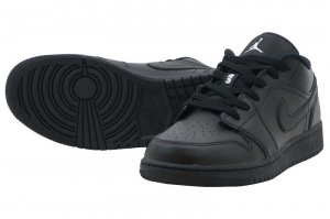 NIKE AIR JORDAN 1 LOW BG - BLACK/WHITE-BLACK