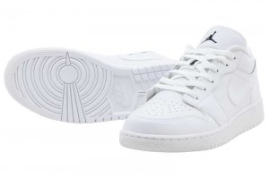 NIKE AIR JORDAN 1 LOW BG - WHITE/BLACK-WHITE