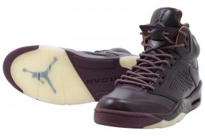 NIKE AIR JORDAN 5 RETRO PREM - BORDEAUX/BORDEAUX-SAIL