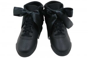 Reebok F/S HI SATIN BOW KIDS - BLACK/SKULL GREY