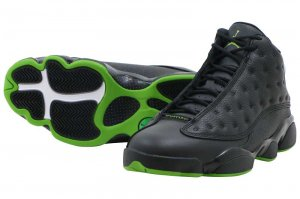 NIKE AIR JORDAN 13 RETRO - BLACK/ALTITUDE GREEN