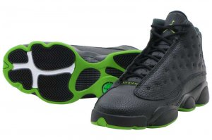 NIKE AIR JORDAN 13 RETRO BG - BLACK/ALTITUDE GREEN