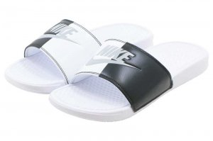 NIKE BENASSI JDI - WHITE/PURE PLATINUM/BLACK-WHITE