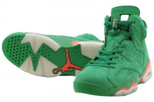 NIKE AIR JORDAN 6 RETRO NRG G8RD - PINE GREEN/ORANGE BLAZE