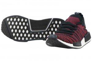 adidas NMD R1 STLT PK アディダス NMD R1 スプリット プライムニット Core Black/Red Solid/Satellite CQ2385