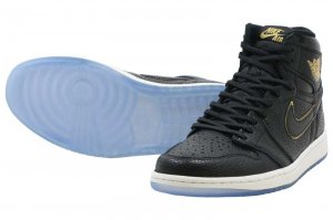 NIKE AIR JORDAN 1 RETRO HIGH OG - BLACK/METALIC GOLD