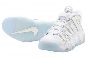 NIKE W AIR MORE UPTEMPO - WHITE/CHROME-BLUE TINT
