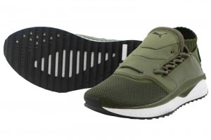PUMA TSUGI SHINSEI - Olive Night-Puma White