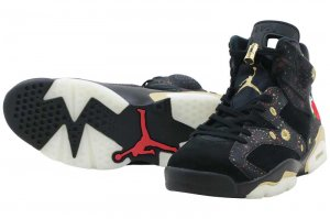 NIKE AIR JORDAN 6 RETRO CNY - Black/Multi-Color/Summit White-Metallic Gold