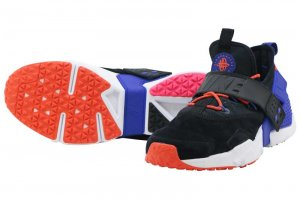 NIKE AIR HUARACHE DRIFT PRM - BLACK/RUSH VIOLET-RUSH ORANGE